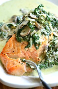 Light, creamy salmon