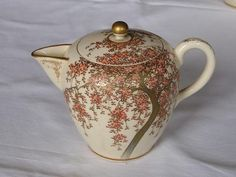 Antique Japanese Satsuma milk pitcher Meiji era 1890-1910 handpainted NR #1224M