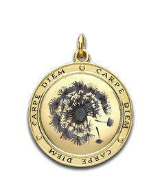 The Carpe Diem ('Seize the Day' collection by Theo Fennell depicting a dandelion 'clock' shedding its seeds, a symbol of the passing of time.