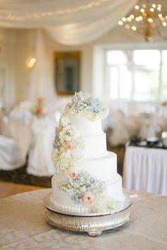 A Whimsical Spring Wedding at Wayzata Country Club in Wayzata, Minnesota Wedding Cake Photos, Wedding Cakes, Wedding Reception, Wedding Day, Wedding Things, Wedding Anniversary Cakes, Spring Cake, Raspberry Filling, New Cake