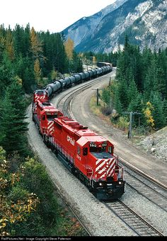 Net Photo: CP 5912 Canadian Pacific Railway EMD at Yoho, British Columbia, Canada by Steve Patterson Train Car, Train Tracks, Train Rides, British Columbia, Vancouver Tourist Attractions, The River, Canadian Pacific Railway, Old Steam Train, Railroad Photography