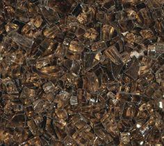 Copper 1/4 Inch Fire Glass