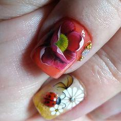 Sunflower Nail Art, Nail Art Designs, Beauty, Jewelry, Toe Nail Art, Nail Arts, Nail Design, Classy Nails, Feet Nails