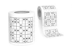 Do you really need these gadgets to make you look smart? Sudoku Toilet Paper: This creative toilet paper comes with sudoku puzzles imprinted on it. Cool Toilets, 7 A 1, Crappy Day, Sudoku Puzzles, Practical Jokes, Toilet Roll Holder, Thing 1, Disposable Diapers, Gag Gifts