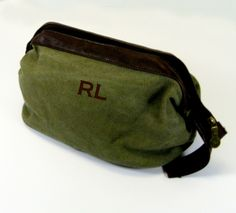 WWII Style Shaving Kit in Green Canvas by jansnstitches on Etsy