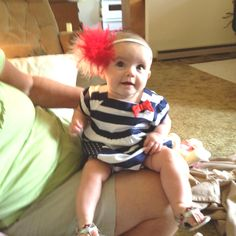 Fourth of July baby contest outfit.