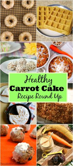 Healthy Carrot Cake Recipe Round Up