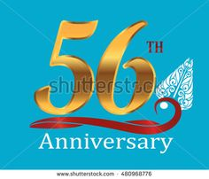 56th golden anniversary logo with white indonesia shadow puppet ornament