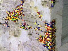 More Architectural Graffiti: Lego Brick Building Grafts : Life Without Buildings | ReBrick | From LEGO Fan To LEGO Fan