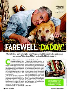 Cesar Millan Daddy Died   Farewell, 'Daddy' - Dog Whisperer : People.com
