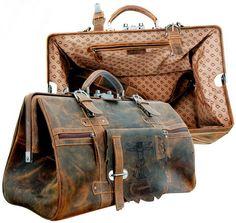 Vintage Look  Echtleder Reisetasche 44cm Sporttasche Schultertasche Apropos