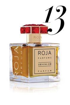 The notes: bergamot, grapefruit, rose, jasmine, orange blossom, sandalwood, clove, cumin, black pepper, benzoin, Peru balsam, vanilla It smells like: Luxury, first of all, then leather, like the inside of a brand new Hermès bag, mixed with cashmere mixed with heady florals. Roja Parfums Nuwa, $1,150, bergdorfgoodman.com.   - HarpersBAZAAR.com