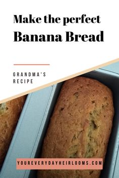 This banana bread recipe is so easy to make! It's the best banana bread you will ever make!
