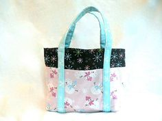 Small Purse with 6 Pockets  Pink Blue and Brown by GoobaGear, $21.99