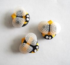 Magnets Little Stinger Bees handmade polymer clay by digitsdesigns, $10.00