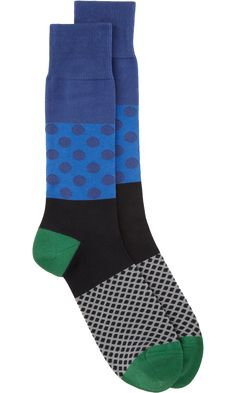 I just love fun socks, being dressy & casual, life doesn't always have to b serious! :-) Paul Smith Duo Polka Dot Sock