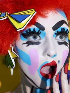 Miles of MAC - Miles Aldridge - Advertising - Miles Aldridge - Management Miles Aldridge, Ronald Mcdonald, Halloween Face Makeup, Mac, Advertising, Artist, Management, Beauty, Beleza