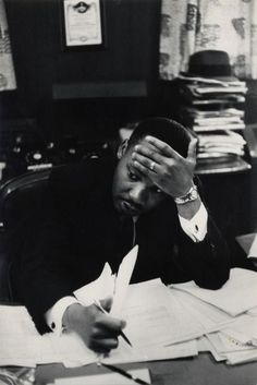 Martin Luther King, Atlanta, 1961. By Henri Cartier-Bresson.