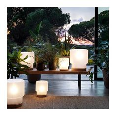 IKEA SINNERLIG table lamp Gives a soft mood light.