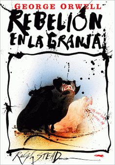 Cover illustration by Ralph Steadman for 'Animal Farm' by George Orwell