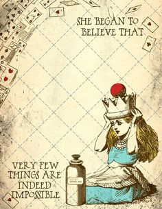 best DIY Alice in Wonderland tea party ideas on a shoestring. Alice in Wonderland printable page - Popstock Etsy Alice And Wonderland Quotes, Alice In Wonderland Tea Party, Adventures In Wonderland, Image Deco, Arte Disney, Were All Mad Here, Mad Hatter Tea, Mad Hatters, Disney Quotes