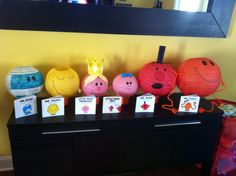 Mr Men Little Miss Party Lanterns