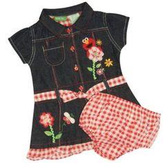 Sesame Street Elmo Infant Denim Dress