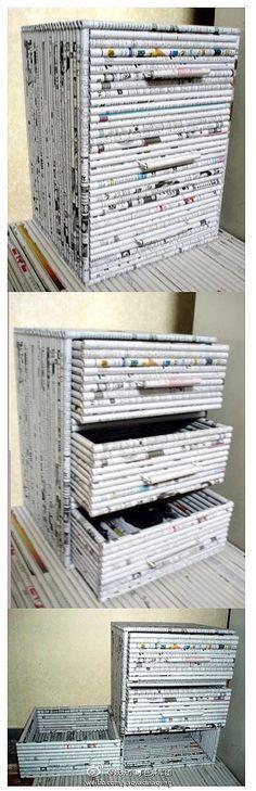 Móveis feitos de jornal passo a passo