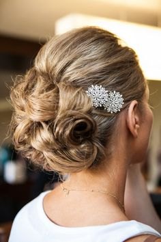 Two Crystal Bridal Hair Floral Hair Pins Wedding by bethanylorelle, $98.00