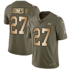 162e04b6d Nike Buccaneers  27 Ronald Jones II Olive Gold Men s Stitched NFL Limited  2017 Salute