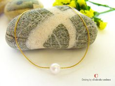 One Pearl Bracelet Real Freshwater Pearl Single Pearl Or Rose, Rose Gold, Handmade Bracelets, Handmade Gifts, Gold Filled Chain, Pearl Bracelet, Bridesmaid Gifts, Fresh Water, Coin Purse