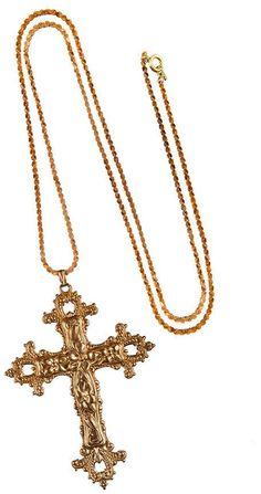 ROCK 'N ROSE Gabrielle Vintage Baroque Cross Necklace