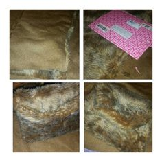 #faux #fur #clutch #diy going to a play tomorrow,  whipped this up!