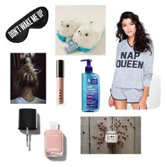 """""""Don't wake me up!!!"""" by chelsea-mayen ❤ liked on Polyvore featuring Boohoo, Perpetual Shade, Chanel, LORAC and slumberparty"""