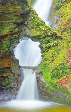 Merlin's Well, Cornwall, England. this says come see me in so many you're in England Cornwall just sound so British Its named after a magician It beautiful Beautiful Waterfalls, Beautiful Landscapes, Beautiful Scenery, Places To Travel, Places To See, Travel Destinations, Vacation Spots, Vacation Travel, Beach Travel