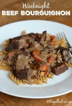 This Beef Bourguignon is an easy weeknight meal that is now a go-to for my family. As the weather is getting cooler, this is the epitome of comfort food.