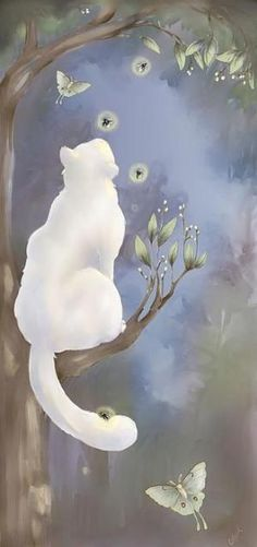"""""""He lives in the half lights in secret places, free and alone--this little great being whom his mistress calls, my cat."""" --Margaret Benson (painting by CarrieAnn Reda) by MyohoDane"""