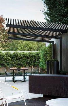Pergola To House Attachment Timber Pergola, Modern Pergola, Outdoor Pergola, Pergola Kits, Pergola Designs, Patio Design, Gazebos, Pergola Shade, Back Gardens