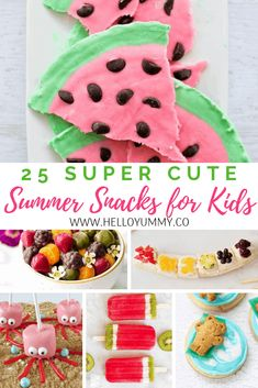 25 Super Cute Summer Snacks For Kids - helloyummy
