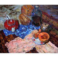 Por amor al arte: Denis Sarazhin Russian Painting, Russian Art, Figure Painting, Painting Still Life, Still Life Art, Seascape Paintings, Cool Paintings, Classic Paintings, Traditional Paintings