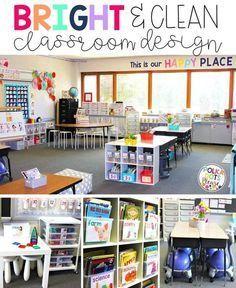 Bright Classroom Decor Disposition De Classe Classe Prescolaire