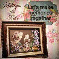 Let's make memories together. Hias mahar sepasang merpati, ukuran pigura 12R. Happy wedding Aditya & Nike #mahar#maharku#maharuang#maharhias#hiasmahar#uang#money#mahr#dowry#uangmahar#ma...