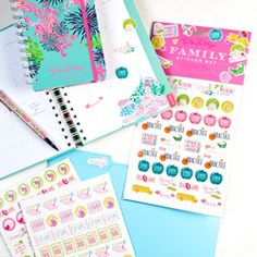 Lilly Pulitzer Agenda Stickers - Academic - See Jane Work