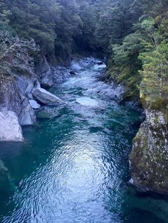 Blue Pools Walk, Mt Aspiring National Park, New Zealand — by Nicole Smelson. The blue pools are a nice stop when driving by. I made a special trip out to see them and it wasn't worth the special...