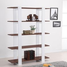 Have to have it. Furniture of America Column Bookcase - Walnut - $151.98 @hayneedle