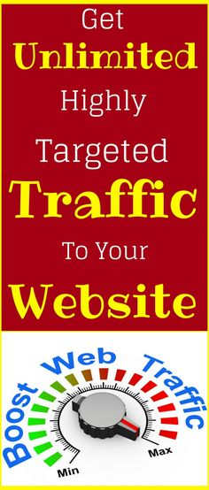 How to increase website traffic - Get Unlimited Amounts of Highly Targeted Traffic to Your Website. If you want grow your online presence Traffic is essentials - Here are 100's of way to generate traffic for your blog , website, landing page, and to increase page views. The best training for beginners and advance. Learn how to get Millions of visitor to your website with in a day. Click the pin to learn more>>>