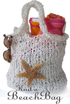 Knit from PLARN (plastic bags cut into strips). Free pattern plus some good tips.  This could be a fun project!  I've got plenty of plastic bags....