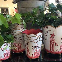 Regency rond Pot de fleurs en m/étal Gris