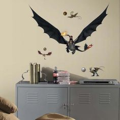 Hiccup Toothless have arrived!! Our How To Train Your Dragon 2 wall decals.
