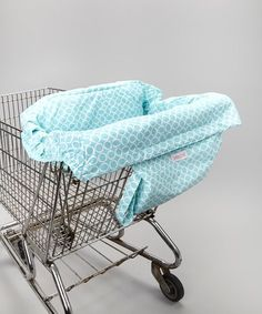 The Shop It fits all standard shopping carts and easily folds into bags for easy, safe and germ-free shopping with Baby! Free of BPA, phthalates, lead and cadmium and printed with organic ink, it's a pretty, functional and eco-friendly choice.